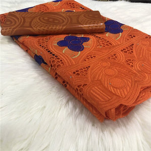 2.5 y Swiss lace fabric +2.5 y Bazin Brode riche embroidery African 100% cotton fabrics Swiss voile lace popular Dubai style 2L3