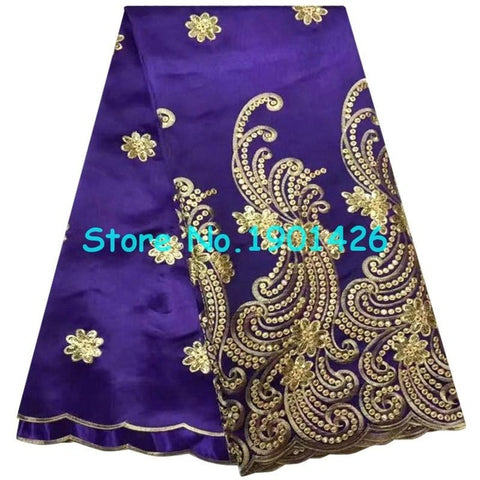 2017 Purple african george lace High quality french lace fabric with plenty Sequins.African lace fabric for nigerian Wedding XY8