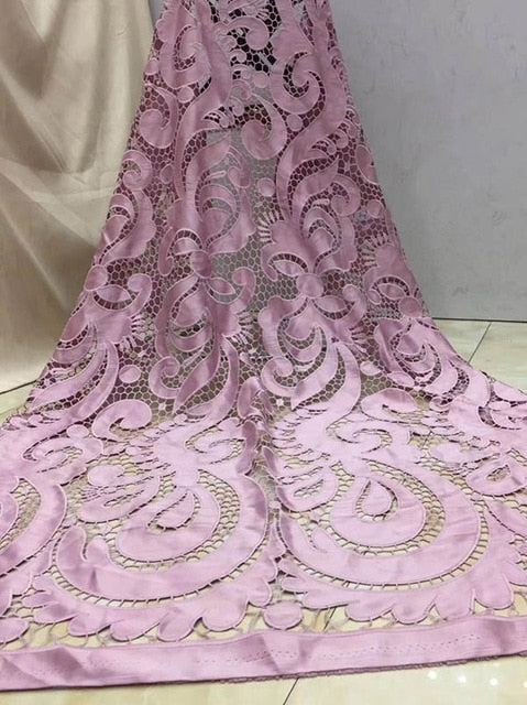 2018 African Cord Lace High Quality French Lace Fabric royal blue Color African Lace Fabric For Nigerian Wedding Dress