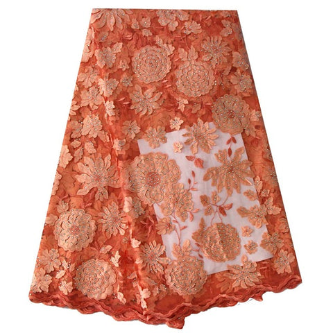 Image of 2018 Latest African Tulle French Lace Fabric Laser Cutting Jacquard High Quality Nigerian Wedding African Lace Fabric Burgundy