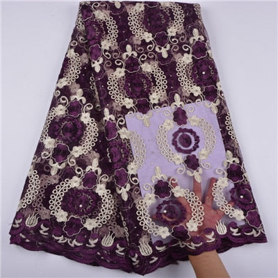 2018 Latest African Tulle French Lace Fabric Laser Cutting Jacquard.high Quality Nigerian Wedding African Lace Fabric A1374