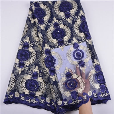 Image of 2018 Latest African Tulle French Lace Fabric Laser Cutting Jacquard.high Quality Nigerian Wedding African Lace Fabric A1374