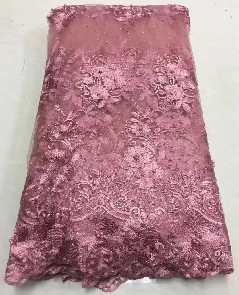 2018 Latest French Nigerian Laces Fabrics High Quality Tulle African Laces Fabric Wedding African French Tulle Lace ALC-Z011