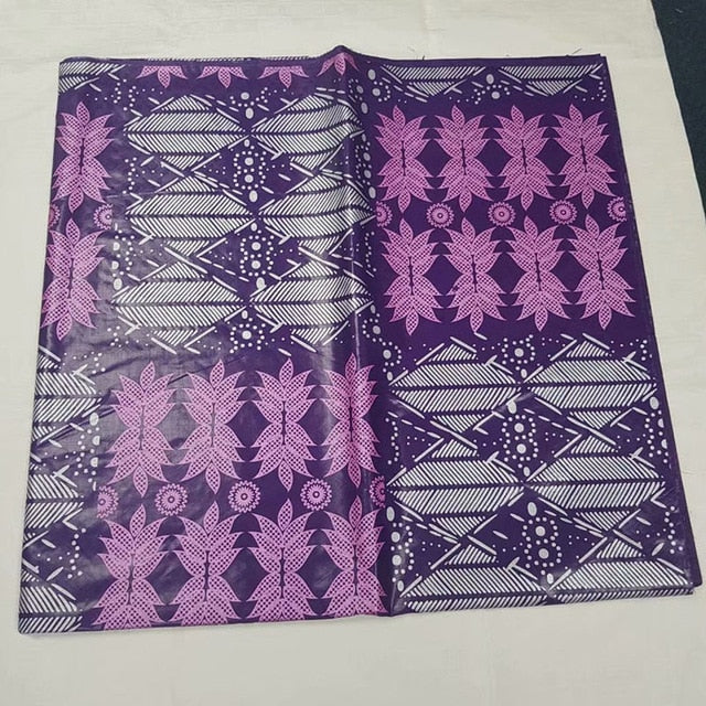 2018 hot jacquard brocade fabric Tie dyeing bazin riche getzner  nouveaute African print fabric high quality 5 yards per lot