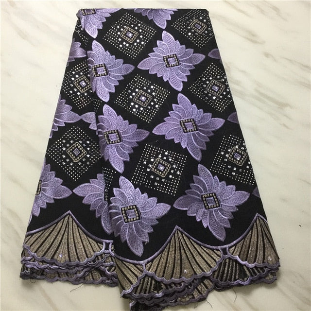 2019 African Swiss Voile Lace Fabric embroidery lace trim high quality african Dry cotton lace fabric for wedding PL102302