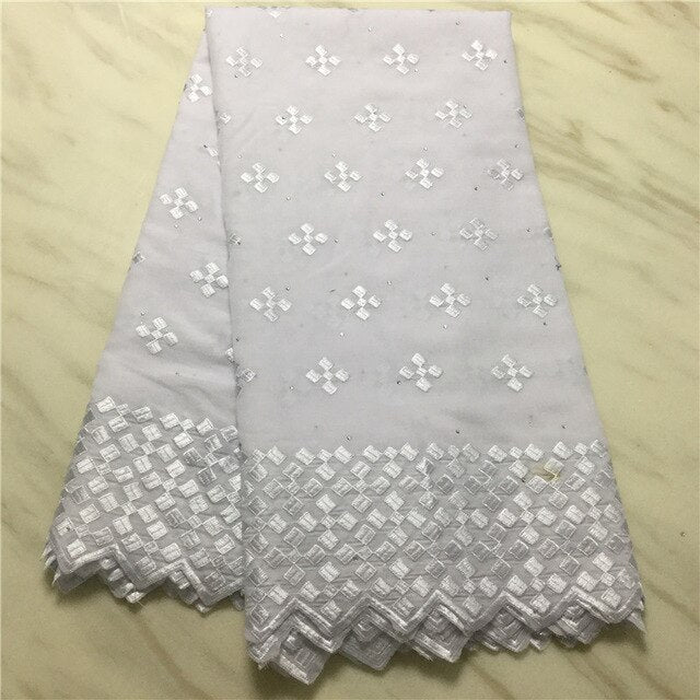 2019 African Swiss Voile Lace Fabric embroidery lace trim high quality african Dry cotton lace fabric for wedding PL102309