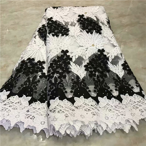 Image of 2019 Latest French Nigerian Lace Fabrics High Quality Tulle African Lace Fabric Wedding Stones French Tulle Lace