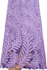 2019 Latest Guipure Lace Cord Lace Embroiderey African Cord Lace Fabric High Quality Nigeria Lace Fabric For Wedding ETB80 LILAC