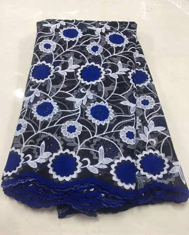 Image of 2019 Latest Nigerian Laces Fabrics High Quality African Embroidered Cord Laces Fabric for Wedding Dress French Black Tulle Lace