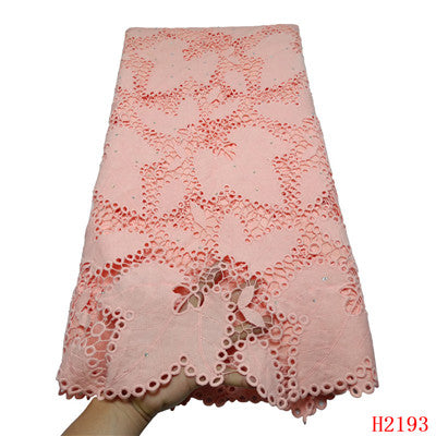 Image of 2019 New Design Water Soluble Lace Beaded Nigerian African Hot Selling Guipure Lace Fabric For Clothing Women/Men HX2193