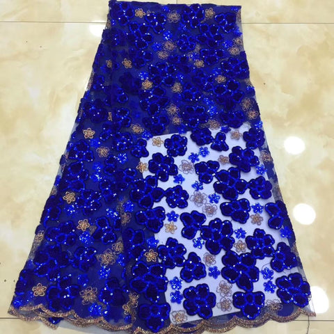 Image of 2019New Africa Tulle Lace Fabric High Quality Africa velvet Lace With Sequins Fabric Nigeria Mesh Fabric Used for party dresses
