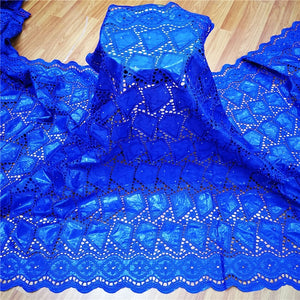 2020 New arrival  african Bazin riche fabric with beads embroidery lace / bazin riche dress material Nigerian 9L061507