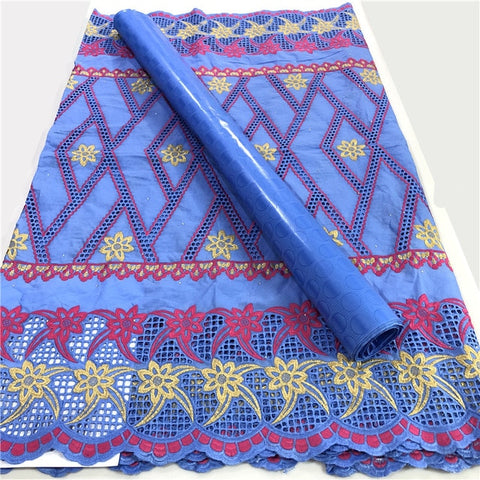 Image of 2020 Swiss Cotton Lace African Guinea Bazin Riche Fabric for Femme Robe New Brocade Damask Bazin Riche Brode
