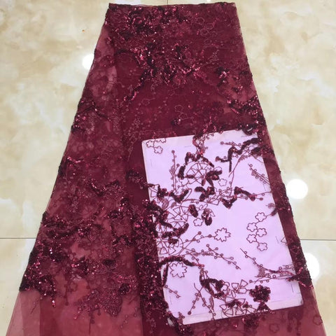 Image of 3d lace flowers latest nigerian lace styles french party lace fabrics 5 yards 2019 net tulle fabric    XZXJUL223