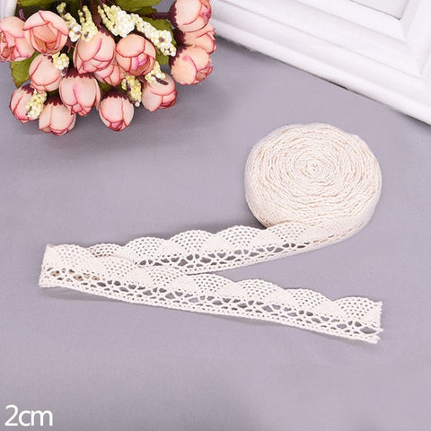 Image of 5/10yard 11-27mm White Beige Embroidered Lace Trim Net Ribbon Fabric african lace fabric For DIY Cloth Sewing Craft Decoration