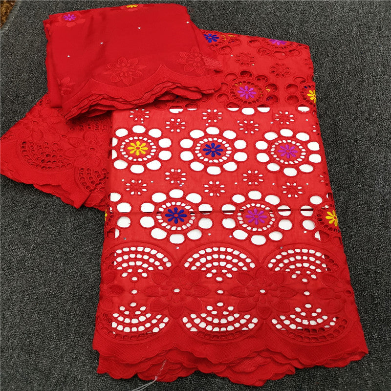 5 Y Swiss lace fabric 2019 Dubai heavy beaded embroidery African lace fabrics 100% cotton Swiss voile lace in Switzerland HL083