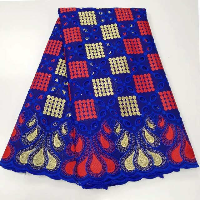 5 yards Fashionable African Swiss voile lace fabric soft Nigerian Ghana traditional clothes with stones high quality hot sale