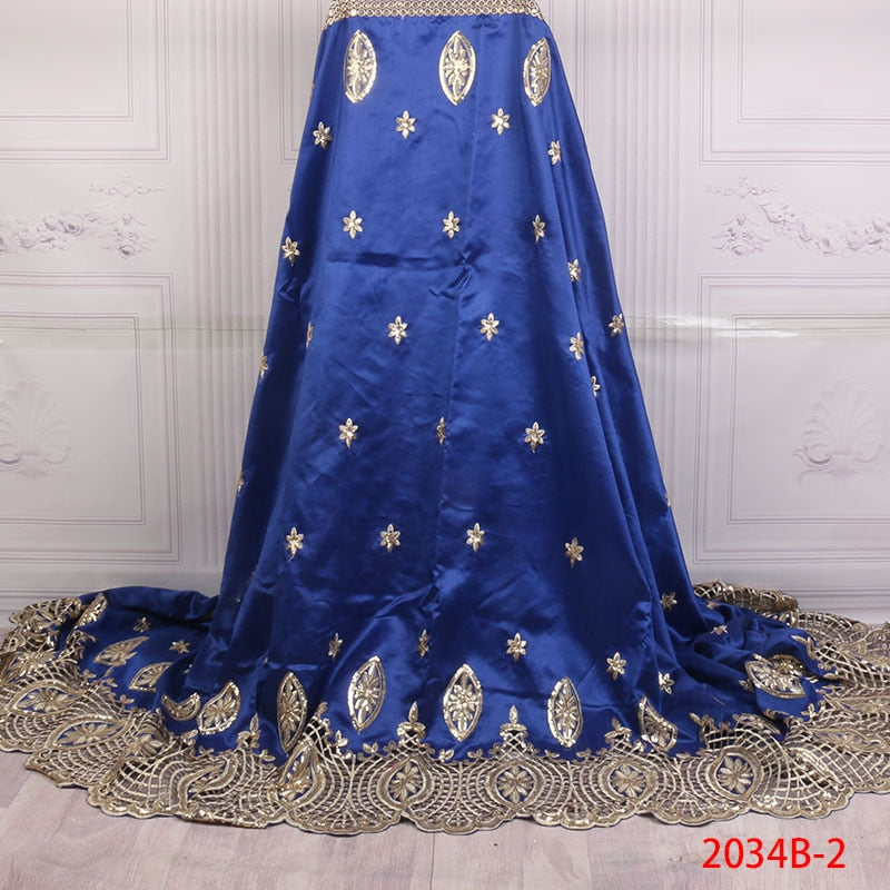 5 yards Royal Blue Lace For aso ebi Dress African High Quality Lace Latest Fashion Style African George Lace Fabric GD2034B-1