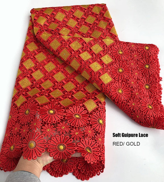 5 yards Very soft unique Guipure Lace Excellent Embroidered African Swiss Cord Lace fabric Nigerian occasional wear sewing Cloth
