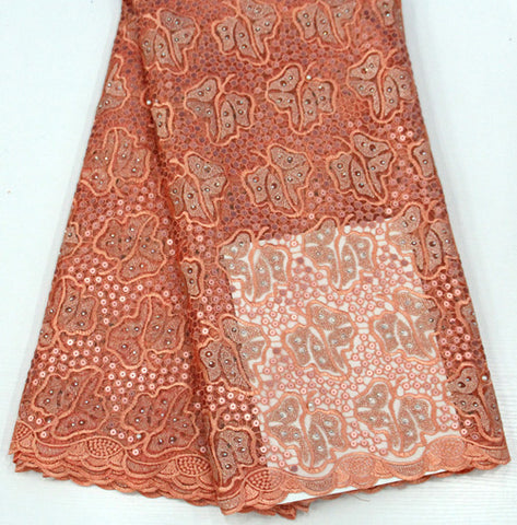 Image of 5yards french lace embroidered tulle lace material.latest nigerian african lace fabric for party dress