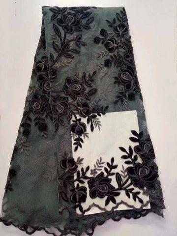 (5yards/lot) African velvet lace fabric,high quality noble velvet Lace fabric for wedding!