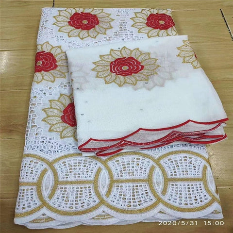 Image of 7 Y Swiss lace fabric 2020 heavy beaded embroidery African lace fabrics 100% cotton fabric Swiss voile lace in Switzerland 3L063