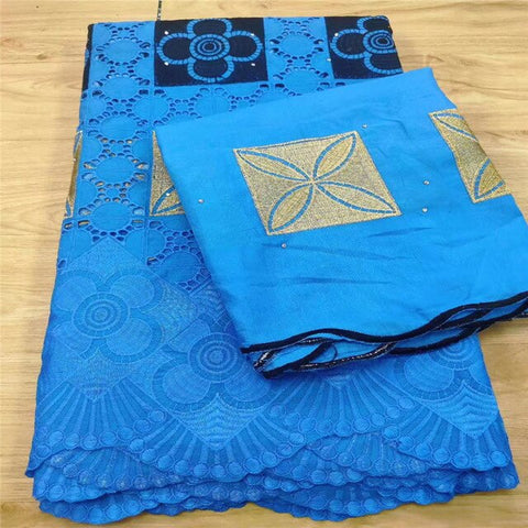 Image of 7Y Swiss lace fabric 2020 heavy beaded embroidery African lace fabrics 100% cotton fabric Swiss voile lace in Switzerland 3L0523