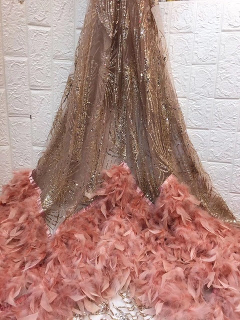 African Beaded 3D Tulle Lace Fabric 2019 African French Lace Fabric High Quality Nigerian Embroidery Tulle French Lace ZX158