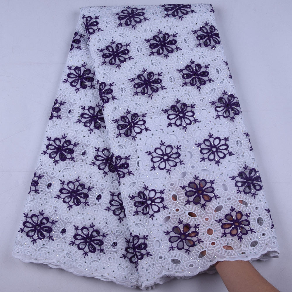 African Cotton Swiss Voile Lace Fabric High Quality Lace African Swiss Voile Lace In Switzerland For Wedding Party Dress 1654