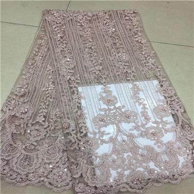 Image of African Lace Fabric 2018 High Quality Lace 3d Applique Embroidery Tulle French Lace Fabric For Wedding Lace H629-1