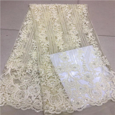 African Lace Fabric 2018 High Quality Lace 3d Applique Embroidery Tulle French Lace Fabric For Wedding Lace H629-1