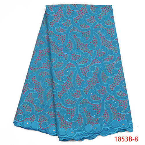 African Lace Fabric 2018 High Quality Lace Swiss Voile Lace In Switzerland Dry Lace Fabrics African Dresses For Women NA1853B-1