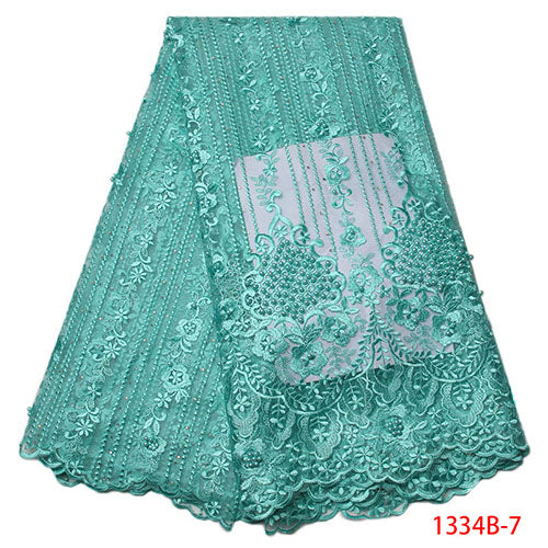 African Lace Fabric 2018 High Quality Nigerian Lace Fabrics Tissu Africain Guipure Embroidery French Tulle Lace Fabric 1334B