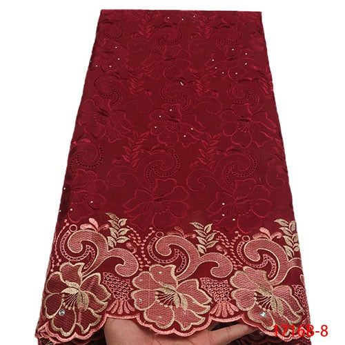 African Lace Fabric 2018 High Quality Swiss Voile Lace In Switzerland African Lace Materials African Dresses For Women NA1716B-1