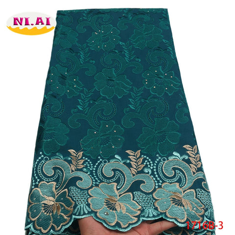 Image of African Lace Fabric 2018 High Quality Swiss Voile Lace In Switzerland African Lace Materials African Dresses For Women NA1716B-1