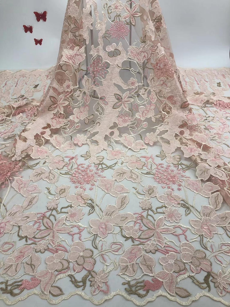 African Lace Fabric 2019 Embroidered Nigerian Laces Fabric Bridal High Quality French Tulle Lace Fabric    JIAJIAJUL044
