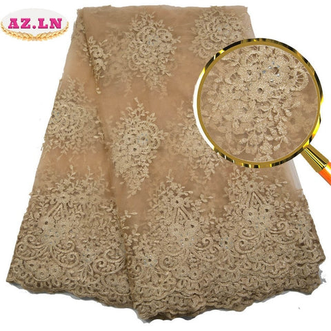 Image of African Lace Fabric 2019 High Quality Lace Lilac Nigerian Tissu Africain Guipure Embroidery French Tulle Lace Fabric   A19B6