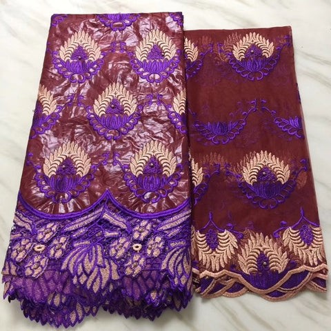 Image of African Lace Fabric 2019 High Quality Lace Swiss Voile Lace In Switzerland Dry Lace Fabrics African Dresses For Women DP307