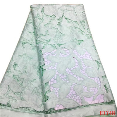 Image of African Lace Fabric 2019 High Quality Lace Women, French Pink Cord Laces For Nigerian Party Dress French Net Lace Fabric H1748