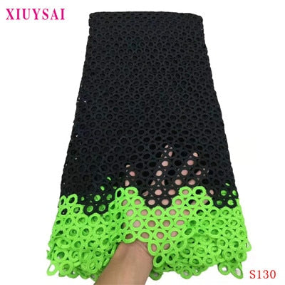 African Lace Fabric 2020 black Guipure Lace Embroiderey African Cord Lace Fabric High Quality Nigeria Lace Fabric For Wedding