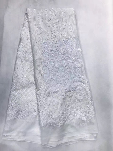 African Lace Fabric French Sequins Net Lace High Quality African Sequin Lace Fabric for 2018 French Sequin Fabric for 4.5*1.35m