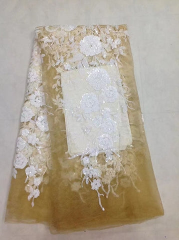 Image of African Lace Fabric French Sequins Net Lace High Quality African Sequin Lace Fabric for 2018 French Sequin Fabric for 4.5*1.35m