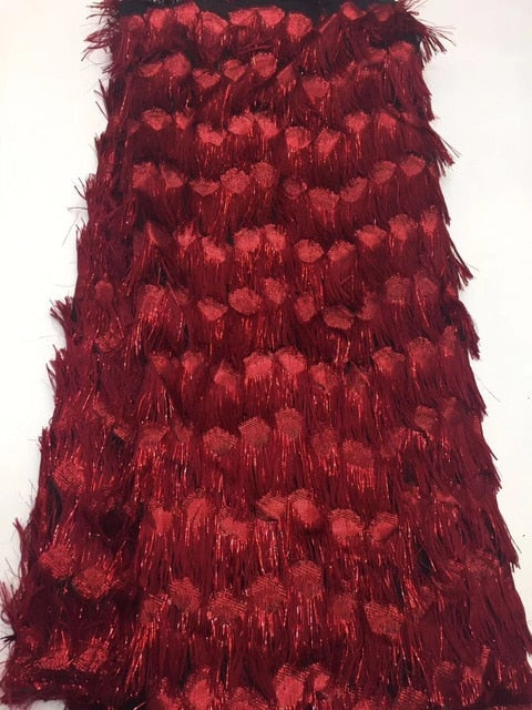 African Lace Fabric High Quality Lace, African Lace Fapric Burgundy, 3D Applique Bridal French Lace RF401