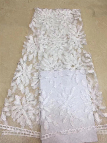 African Laces Fabrics Embroidered High Quality French Lace Fabric 2019 Nigerian Net Tulle Lace Fabric     DPMA121