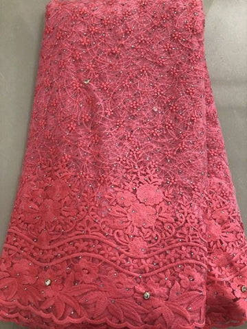 Image of African Milk Lace Embroidery African tulle Lace 2019 Switzerland French Nigerian Lace Fabrics High Quality FLL3965 Coral purple