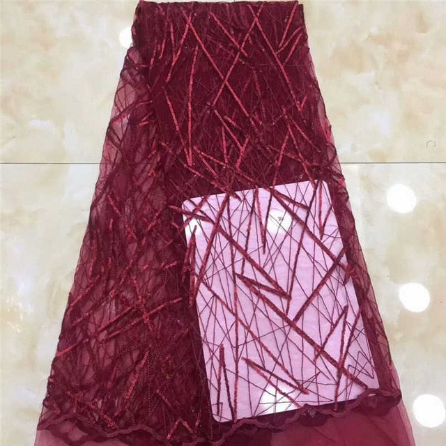 African Sequins Lace Fabric 2020 High Quality Lace Nigerian French Net Tulle Lace Fabrics For Lace Evening Dresses DPA12