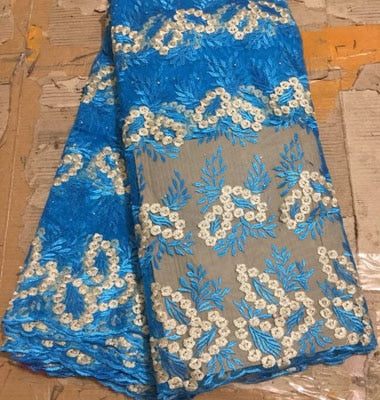 Image of African Tulle Lace Fabric 2018 African French Lace Fabric FLM031 High Quality With Stones Nigerian Embroidery Tulle French Lace