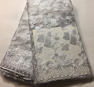 Image of African Tulle Lace Fabric 2018 African French Lace Fabric High Quality With Stones Nigerian Embroidery Tulle French Lace FLM026