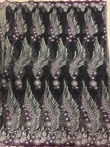 African Tulle Lace Fabric 2018 African French Lace Fabric High Quality With Stones Nigerian Embroidery Tulle French Lace FLL3365