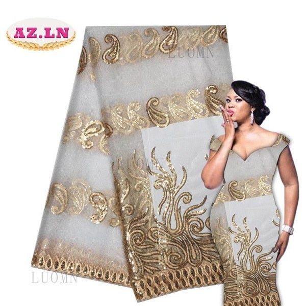 African White Lace Fabric High Quality Tulle African French Net Lace With Stones African Lace For Nigerian Wedding LUON